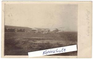 Foto Ak Flugplatz Lemberg Flugzeuge Flieger 1917  1 Wk WW1