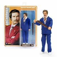 """New Anchorman Battle Ready Ron Burgundy 8"""" Action Figure & Weapon Official"""