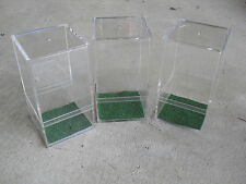 Lot of 3 Unused Toy Soldier or Figurine Plastic Display Cases with Grass Bottoms