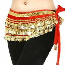 New Belly Dance Dancing Costumes Hip Scarf Skirt Wrap Belt Velvet & Golden Coins