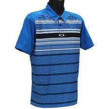 Oakley Legacy Polo Mens Size XXL Ozone Blue Striped Golf Regular Tee Shirt
