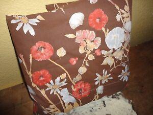 VINTAGE BURLINGTON GROOVY RETRO BROWN RED GOLD FLORAL TWIN FLAT SHEET 64 X 92