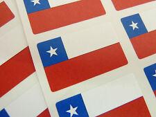 MINI ADESIVO Pack, autoadesiva Cile Flag etichette, fr94