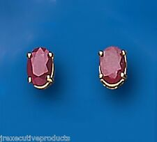 Ruby Earrings ruby Solitaire Ruby Studs Oval Ruby Yellow Gold Ruby Earrings