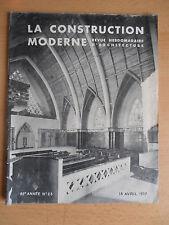 Revue - Catalogue construction moderne n°23 1937