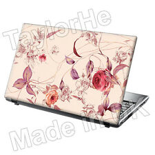 "17"" Laptop Skin Sticker Decal Vintage Pink Flowers 169"