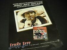 Jerry Jeff Walker is on Elektra Records 1978 Promo Display Ad