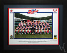 SYDNEY ROOSTERS PREMIERS 2013 PRINT PHOTO POSTER FRAMED TEAM SHOT