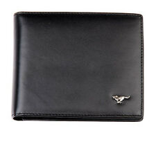 Men Cow Bifold Leather Wallet Bank Credit Card Septwolves Purse black 813163-01