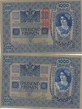 AUSTRIA 1000 KRONER. 2 de Junio de 1902. Serie 1556. Nº 28442. Tamaño 193x130.