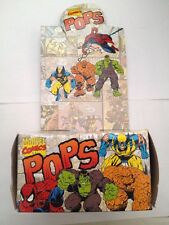 marvel pops 1994 display box spiderman, wolverine, hulk,thing