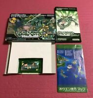 Used Pokemon Emerald box Nintendo GBA Game Boy Advance F/S from Japan