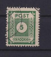 SBZ 57 b 5 Pfg. seltene Farbe schwärzlicholivgrün gestempelt gepr. Ströh (xs213)