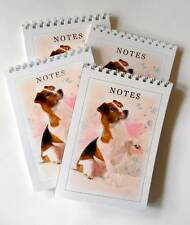 Jack Russell Terrier Dog colour Image Pack of 4 A6 Note pads Gift set