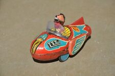 Vintage Friction No.5 Litho Space Jet / Rocket Tin Toy , Collectible