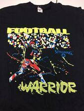 Vintage Football Warrior Shirt Spalding Made In USA Rare Find 80's Look