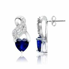 White Sterling Silver Sapphire Fine Jewellery