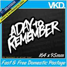 A Day To Remember Sticker/Decal - ADTR Band Music Vinyl Metal BMX Hardcore Skate