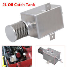 2L Aluminum Oil Reservoir Catch Can Tank With Breather Drain AN10 Baffled Solid
