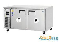 "Everest ETRF2 59-1/4"" Two Section Undercounter Dual Temp Refrigerator/Freezer"