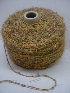 Cappuchino Acrylic Eyelash Poly Specialty 600 ypp Boucle Cone Yarn~2.45  lbs