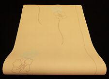 """05183-40-) Vliestapete """"Lacantara"""" Blumen Design Tapete orange + beige mit Glanz"""