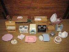 Sylvanian Families / Family Furniture Bundle / Job Lot Kitchen, Nursery & More