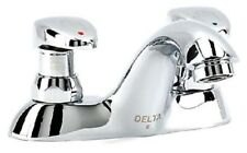 Delta 86T1153 Commercial Centerset Metering Bathroom Faucet (Slow-Close), Chrome