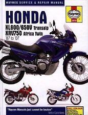 1987-2007 Haynes Honda XL600/650 Transalp & XRV750 Africa Twin Hardback Repair M