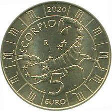 San Marino 2020 Série Zodiaque : Scorpion Monometallico