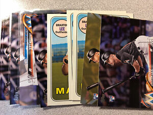 Braxton Lee 10 card rookie lot Miami Marlins