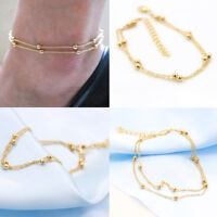 2019 New Women Gold Plated Ankle Chain Anklet Bracelet Foot Jewelry Sandal Beach