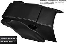 WHITE Stitch Posteriore Centro Console cuoio pelle copertura si adatta Porsche 928 S S2 S4