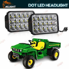 Pair 4X6 90W Sealed Beam LED Headlight Replacement Headlamp JOHN DEERE Gator 6X4