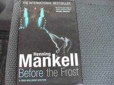Henning Mankell, Before The Frost, hardback book