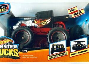 New Bright RC 1:24 Hot Wheels Bone Shaker Radio Control Monster Truck Vehicle