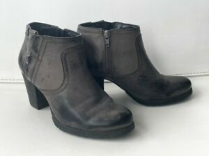 Clarks distressed gray leather boots size 8