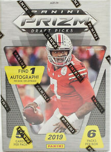 2019 Panini Prizm Draft NFL Football cards Blaster Box. LOOK FOR PRIZMS! NEW
