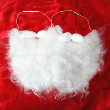 2 pcs White Beard Exquisite Santa Cosplay Beard Santa Wig for Children Adult Men