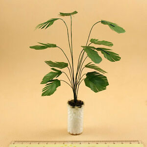 1/12 Scale Dollhouse Miniature Potted Clay Tree Plant Green Plant Garden-Accs HO