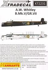 Xtradecal 1/72 Armstrong-Whitworth Whitley B.Mk.V/GR.Mk.VII # 72231