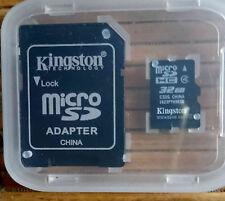 KINGSTON Micro-SD-Speicherkarte 32 GB mit Adapter nur 1 x benutzt