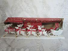 Vintage Bradford Reindeer & Sleigh  w/ Original Box