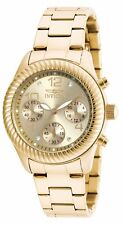 Invicta Womens Angel Gold-Tone Stainless Steel Watch
