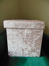 Storage box seat Pink Velvet Square box and seat Stool NEW