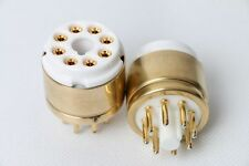 1pc Gold plated ECC31 6N7G TO 6SN7 CV181 B65 ECC32 ECC33  tube converter adapter