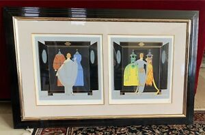 Framed Limited Edition Art Deco Signed Erte, THE CHOICE, 1981 266/300