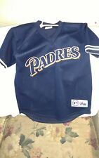 SAN DIEGO PADRES BATTING JERSEY - YOUTH LARGE - THROWBACK - MAJESTIC