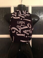 Atmosphere Crop Cropped Fitted Belly Top Vgc Size 6 Black & White
