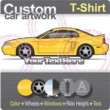 Custom T-shirt 99-04 Mustang GT SVT Cobra Bullitt Mach1 not affiliated with ford
